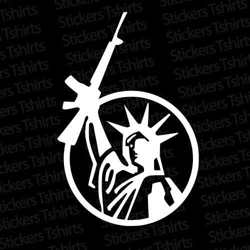 Lady LIBERTY GUN Vinyl Decal Sticker 2nd Amendment AR15 - Sorry SOLD OUT