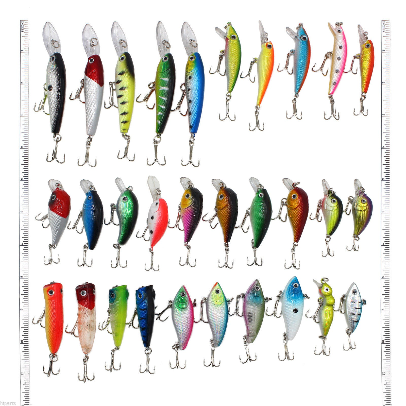 30 pcs Kinds of Fishing Lures