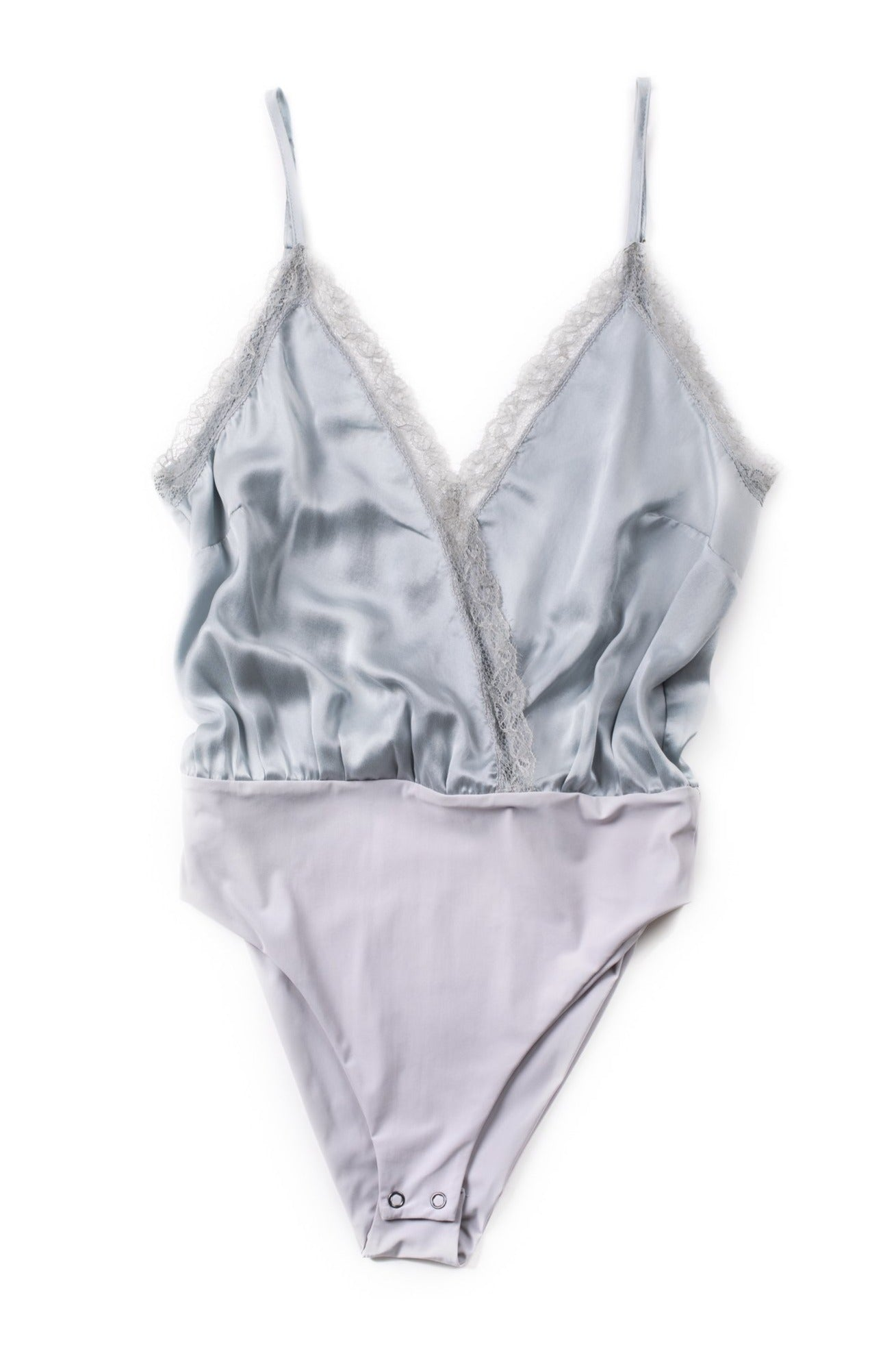 GARDA Silk Bodysuit - Light Blue