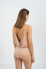 Joselyn Silk Bodysuit - Blush