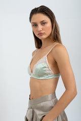 VIVI Satin Soft Bra - Mint