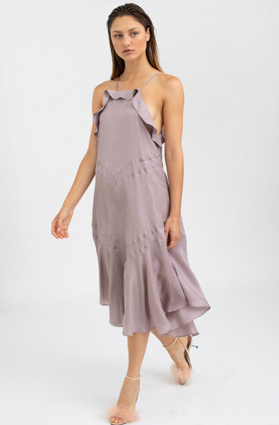 Clementine smoked lilac Silk Dress