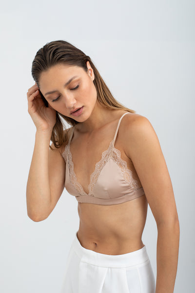 Collie Satin Soft Bra - Blush