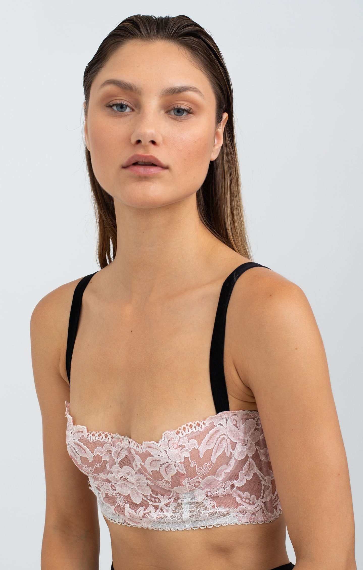 DON  Lace Corset - Pink