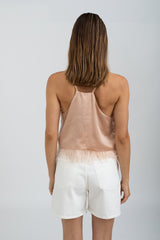 Milla Silk & Feathers camisole - Blush