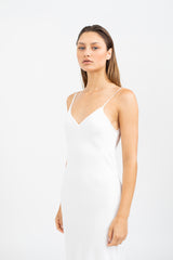 MONA Maxi slip dress - White