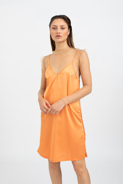 FIORE Slip Dress - APRICOT ORANGE