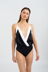 Joselyn Silk Bodysuit - Black