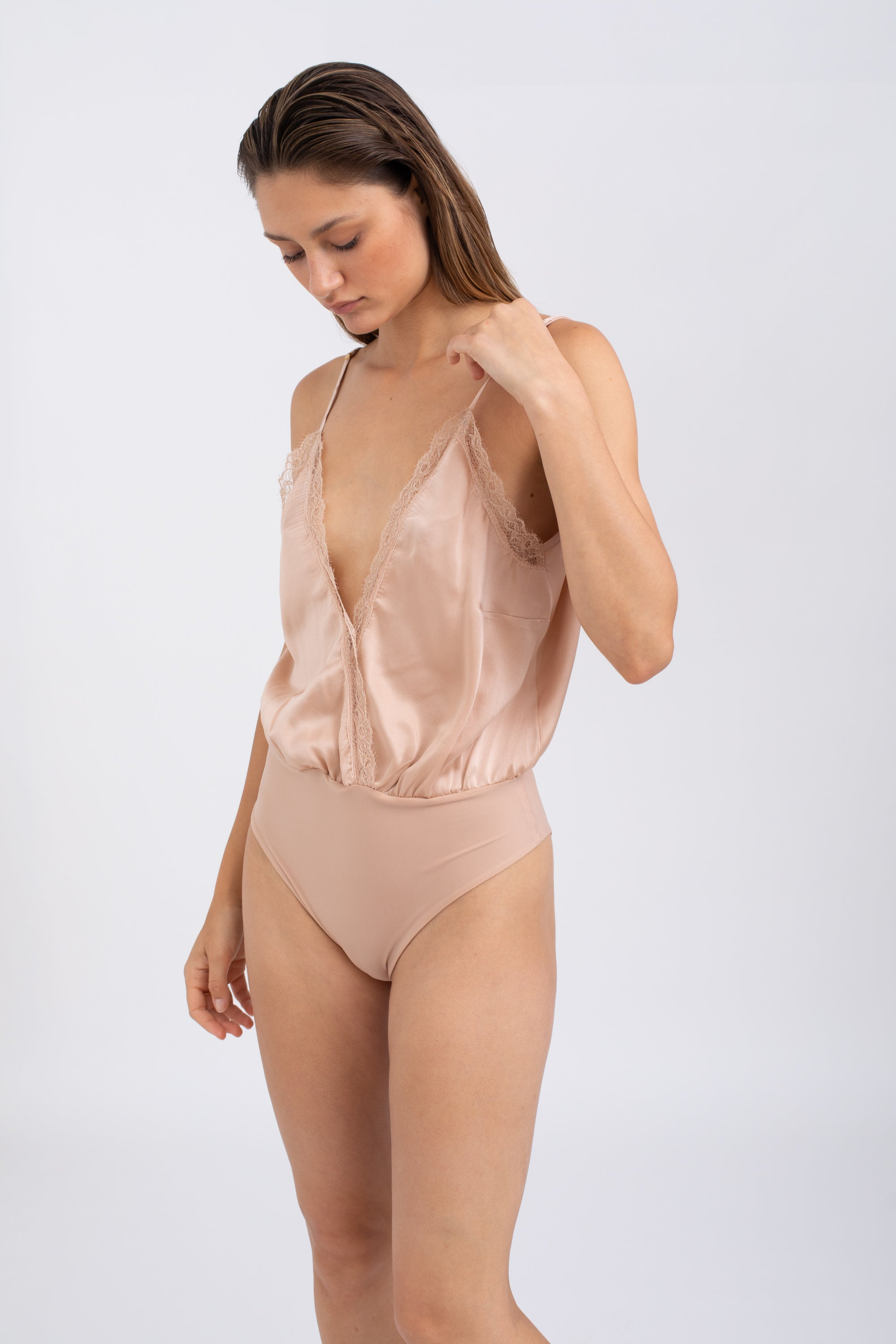 GARDA Silk Bodysuit - Blush