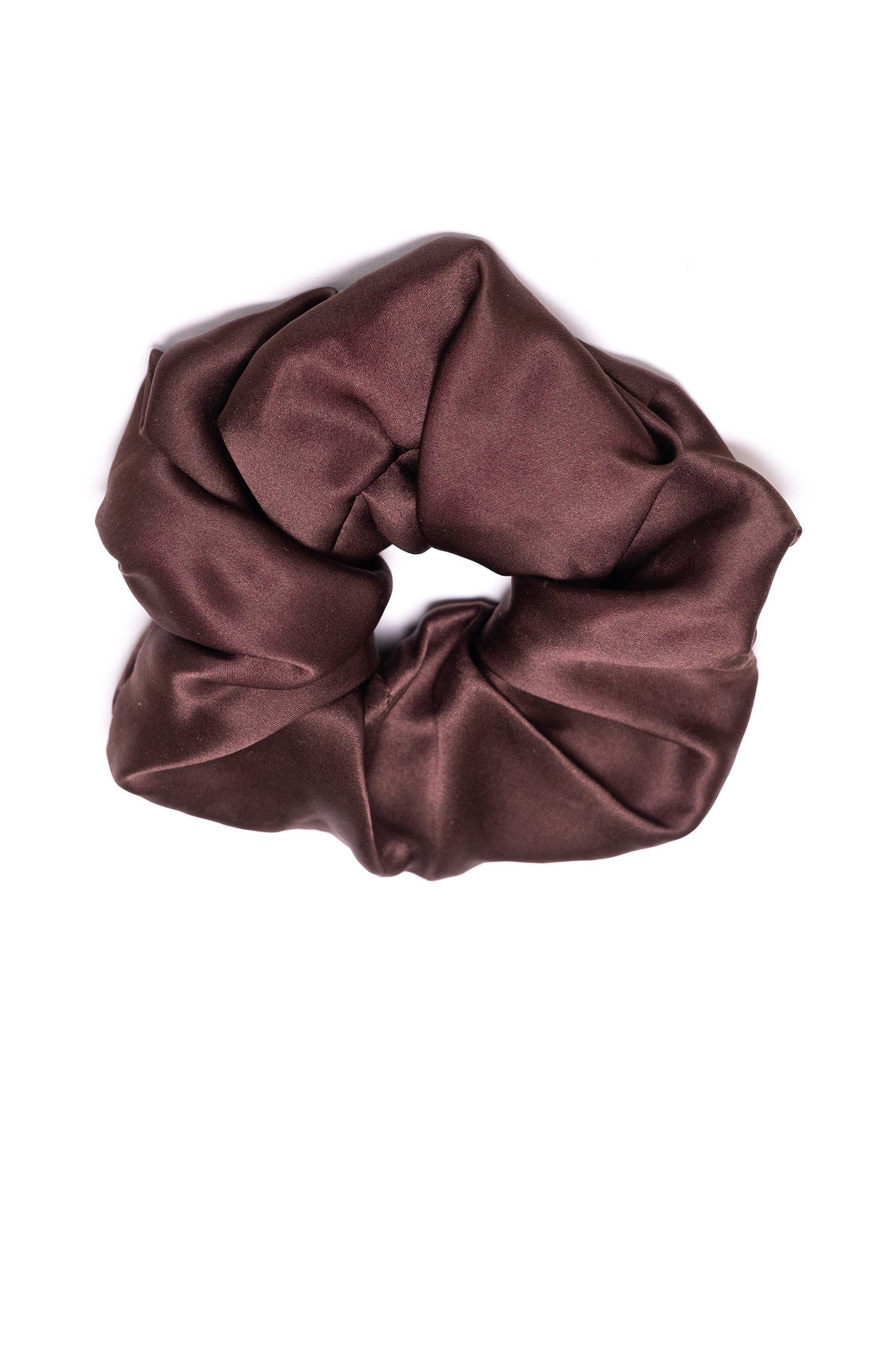 Silk Scrunchy - Dark chocolate