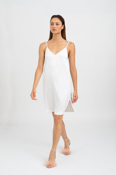 FIORE Slip Dress - White