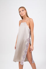 MICHELLE Silk Dress - Grey