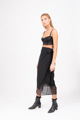 LAURETTE Wrap Skirt - Black