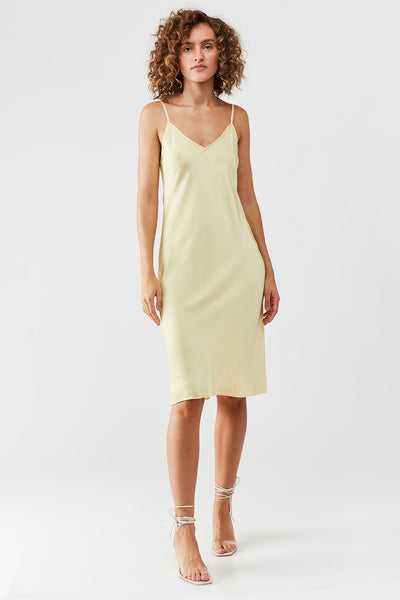 MONA Midi slip dress - Yellow