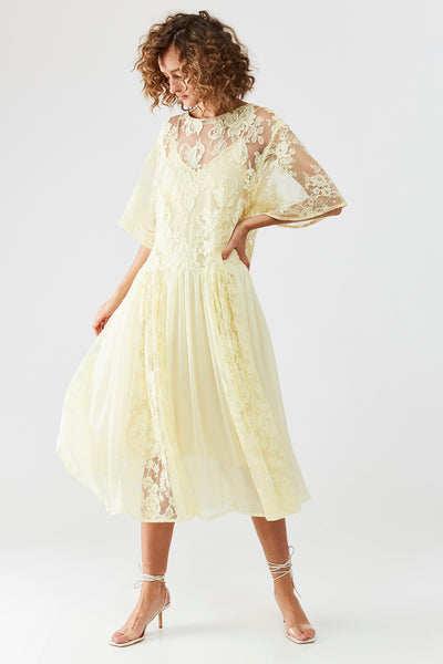 BELLE Dress - Bright yellow