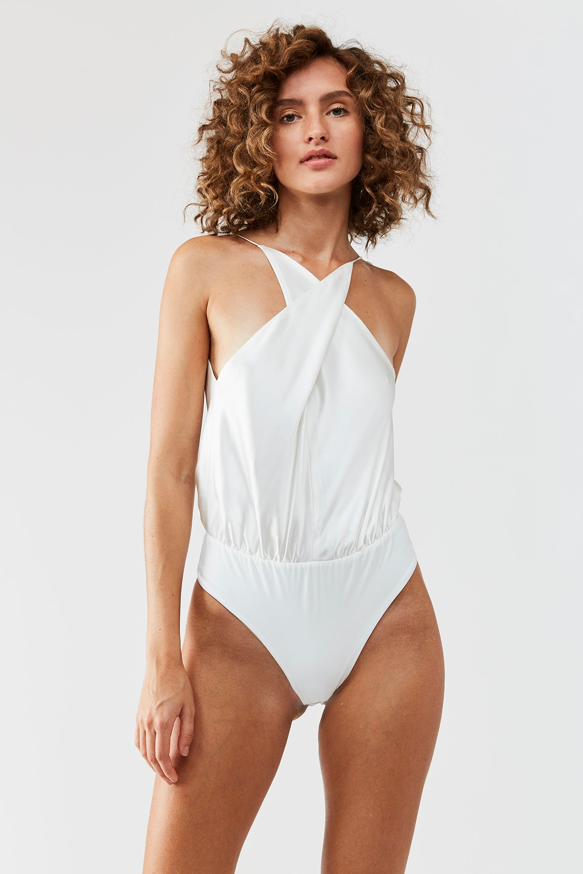 Werther silk bodysuit - White