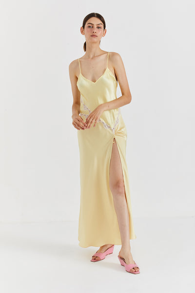 JANE SILK DRESS - Yellow