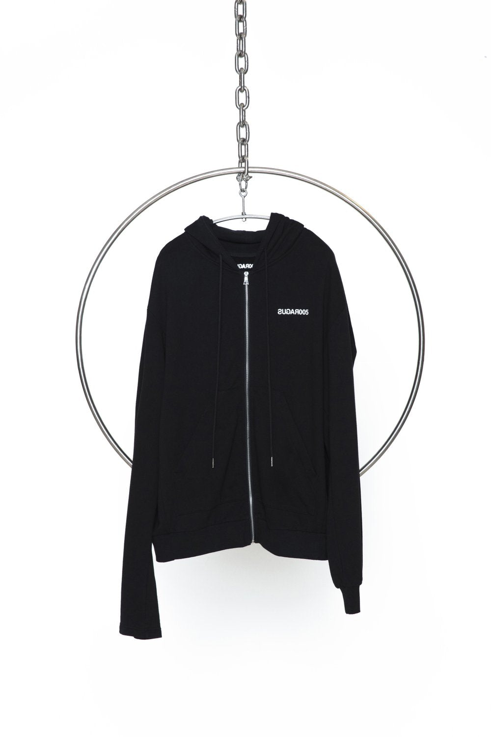IRREGULAR ZIPUP - BLACK