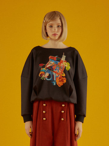 Rockets Soda Print Roundneck Jumper
