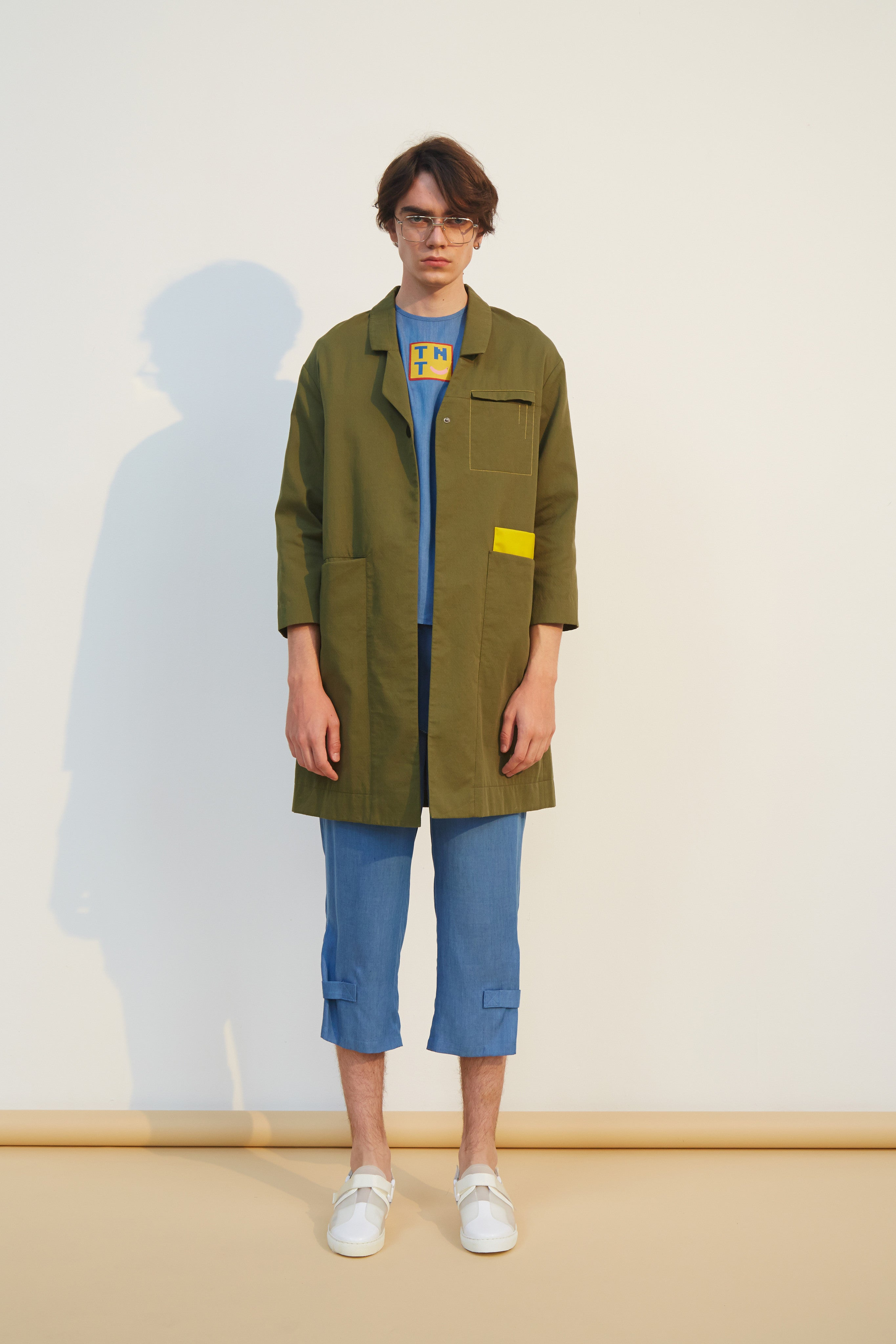 Military Green Cotton Coat