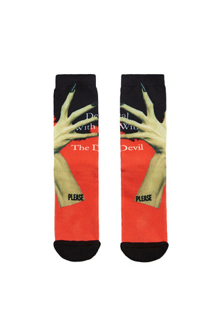 Please Printed Sports Socks
