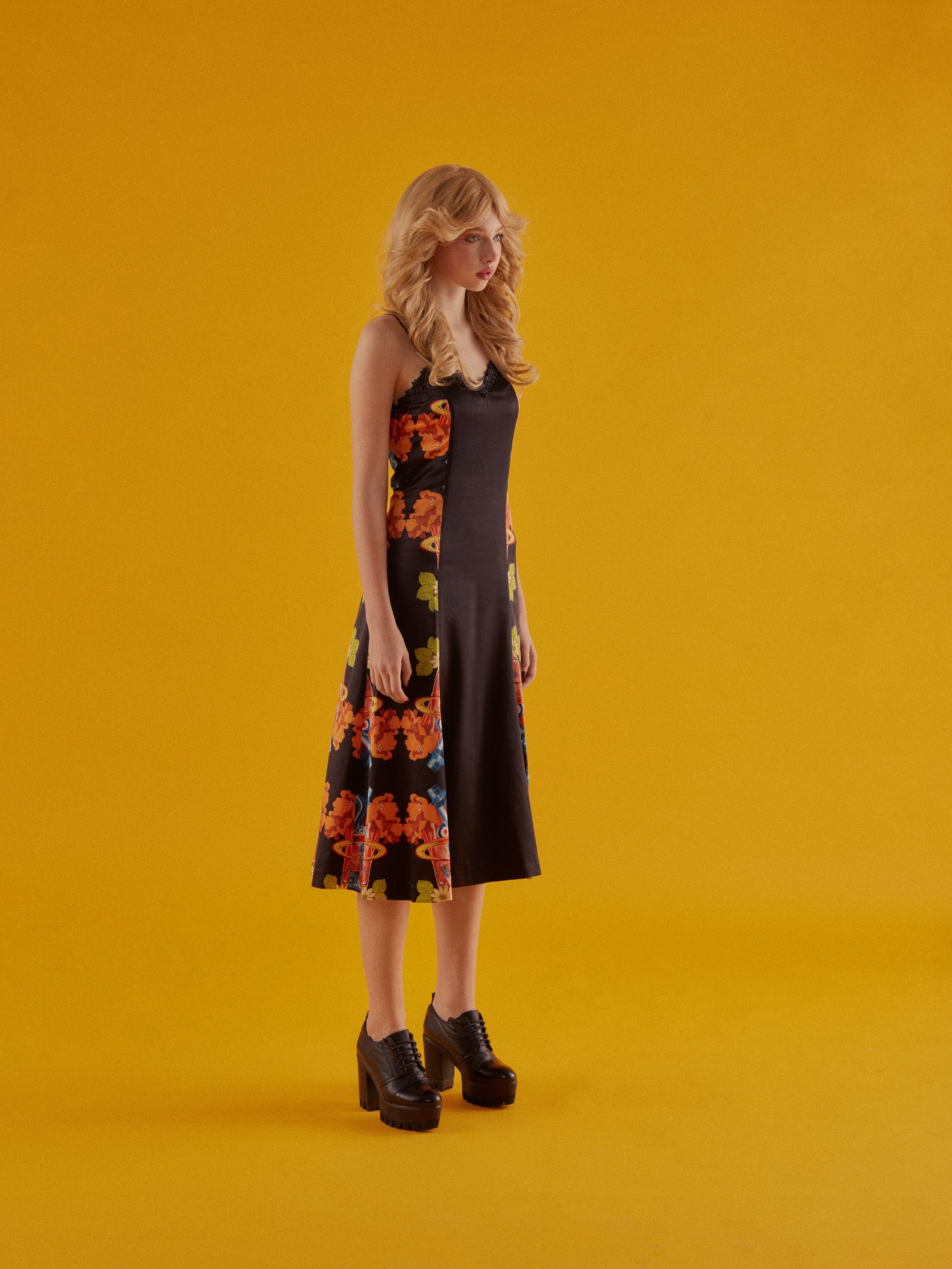 Rockets Soda Lace Neck Long Dress