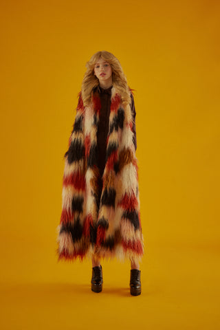 Faux Fur Lapel Coat