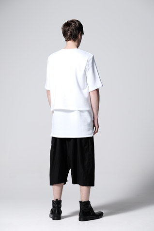 Tops- Double Layer Sweat T-Shirt