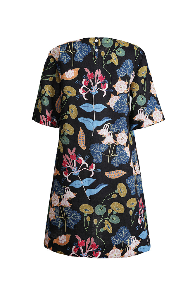The 3 Printed Linen Dress