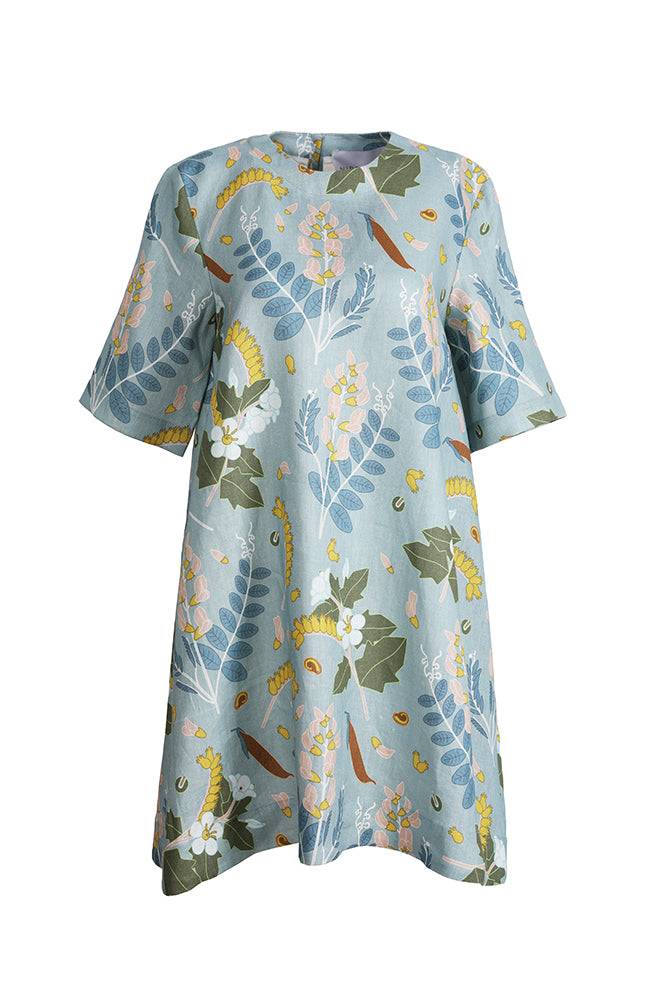 The 2 Printed Linen Dress