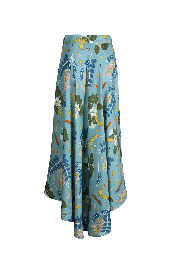 The 2 Printed Linen Blend Dress