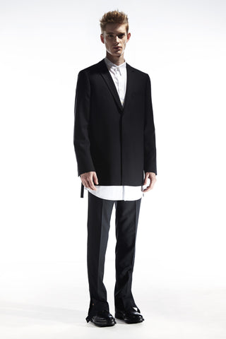 OUTTERS - SIDE SLITS BLAZER WITH LAYERED COLLAR