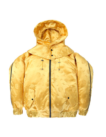 Brocade Puff Jacket Yellow