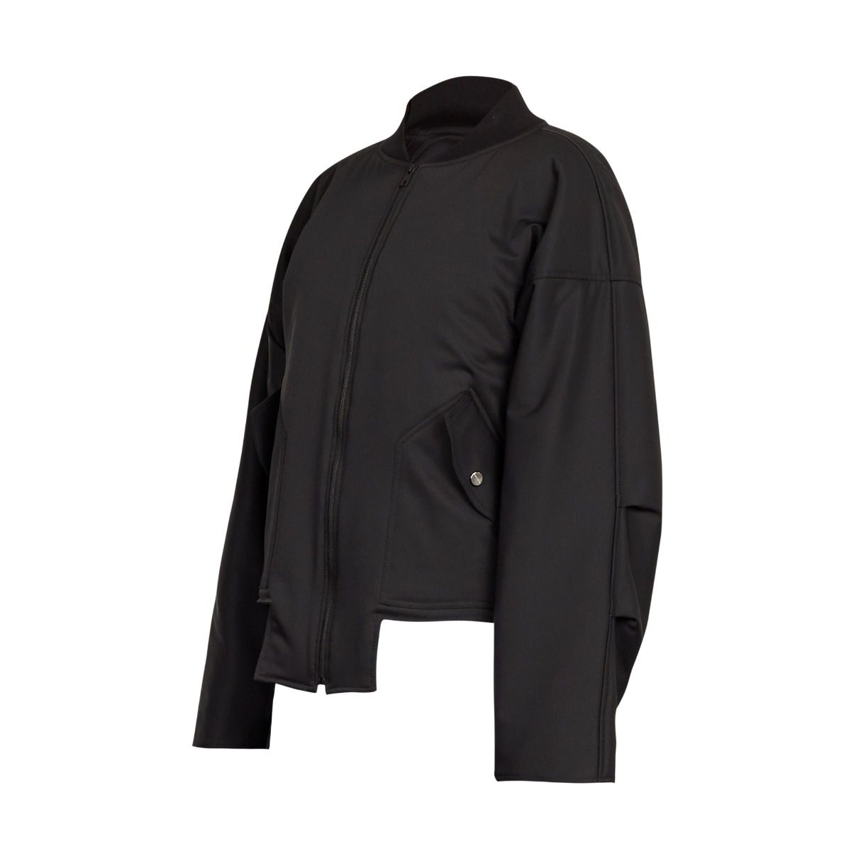 GEOMETRIC BOMBER JACKET BLACK