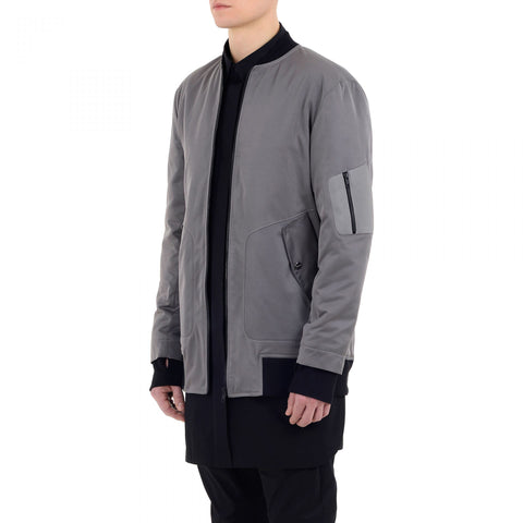 GEOMETRIC RAVER BOMBER JACKET BLACK