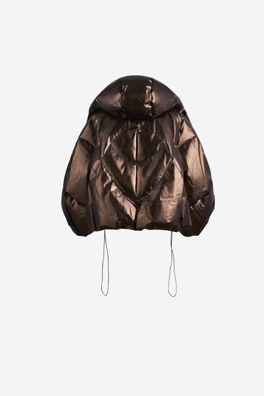 ASYMETRICAL COPPER PUFFER JACKET