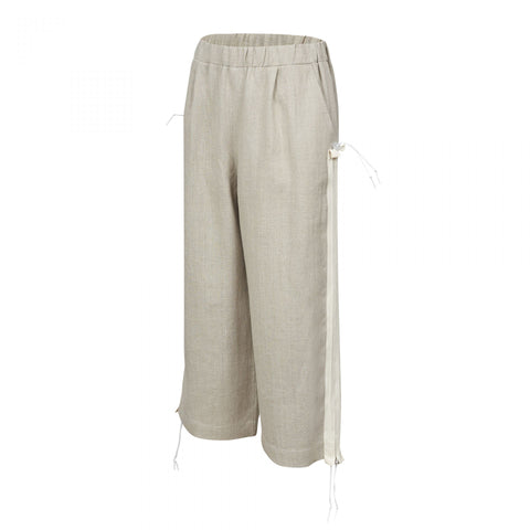 TAPE TROUSERS BEIGE