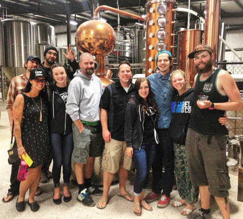 J Dub tours BackDrop Distilling's Bend, Oregon distillery