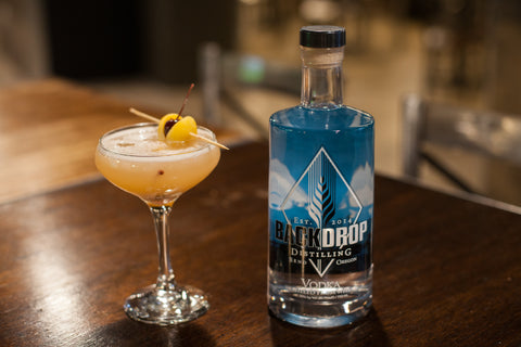 Take home a bottle of award winning vodka by BackDrop Distilling
