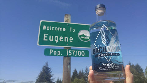 BackDrop Distilling vodka - found in Eugene, Oregon and other Oregon locations