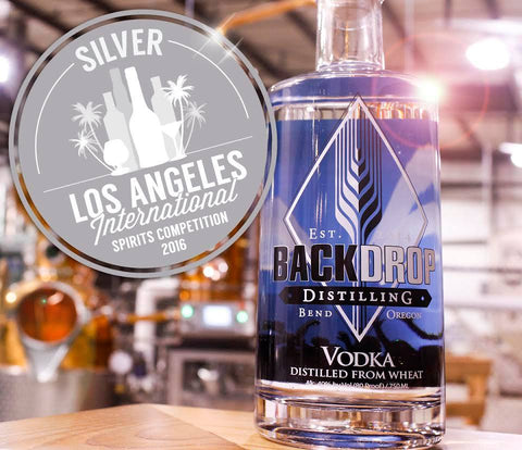 BackDrop Distilling's vodka took home silver medal from 2016 Los Angeles International Spirit Competition