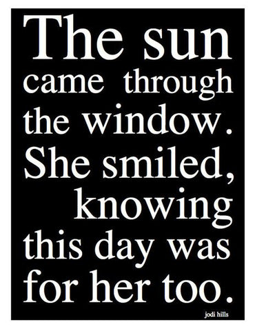 The Sun Came Through the Window Greeting Card