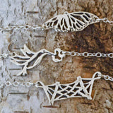 Hummingbird Necklace in Sterling Silver