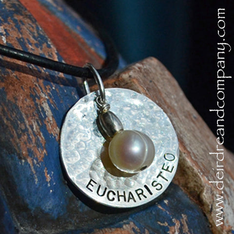 Eucharisteo Necklace in Sterling Silver