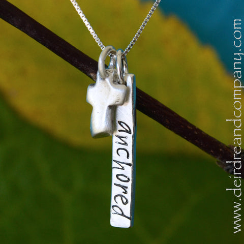 Anchored in Christ Sterling Necklace