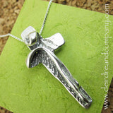 I Am with You Always Sterling Crucifix Necklace