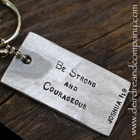 Joshua 1:9 Dog Tag Key Chain