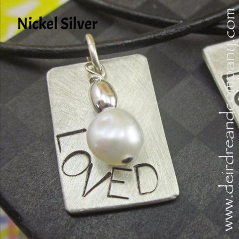 Loved Necklace in Nickel Silver