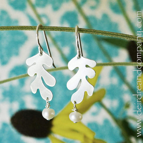 Matisse One Leaf Earrings in Sterling Silver