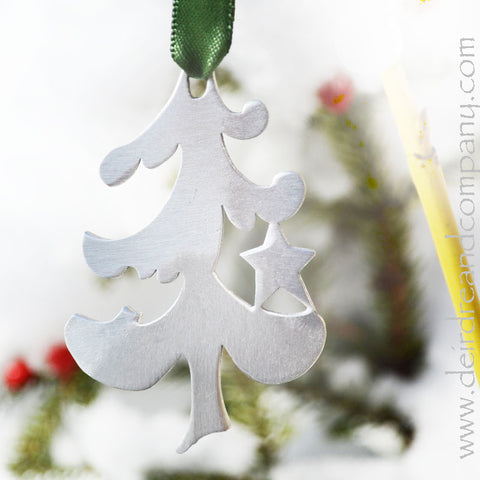 O Tannenbaum Christmas Tree Ornament in Pewter